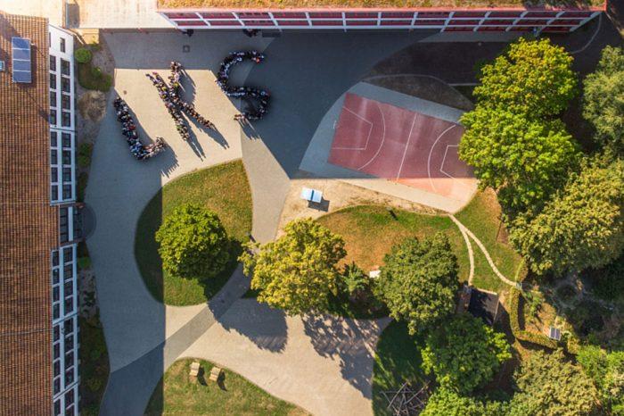 Lothar-Kahn-Schule Luftaufnahme